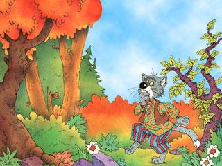Кот и лиса: http://gnomik-nn.narod.ru/fairytale/kot_i_lisa.html